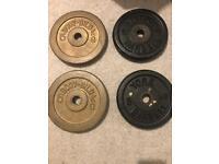 4 x 5kg weight discs