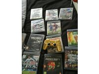 PS3 super slim console 12gb plus games and 1 controller