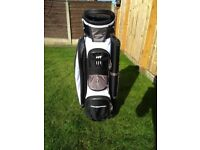Prosimmon Tour 14 Way Cart/Trolley Golf Bag Black/White - Mint Condition