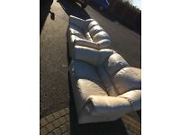 Cream 3 seater and a 2 seater used 07594145438