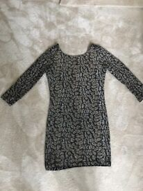 Sparkly gold and black dress size 8