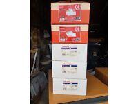 5 Boxes (500per box) Self Seal envelopes 110mm x 220mm.