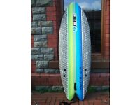 "California Board Company 5' 8"" Foam Soft Surf Board Fish Tail 1"