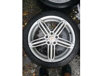 "audi Vw t4 18"" alloy wheels with load rated dunlop winter tyres"