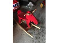 Ikea red rocking horse