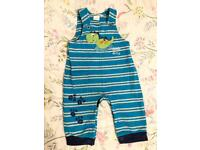 Baby boys dungarees 3-6 months