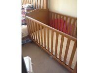 Addington cot bed from Mothercare & mattress