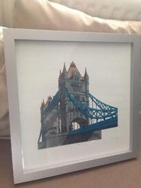 Lovely London Bridge framed print.