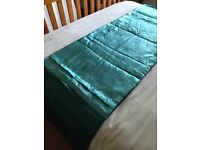 Dunhelm Teal/Blue Bed Runner & Matching Cushion