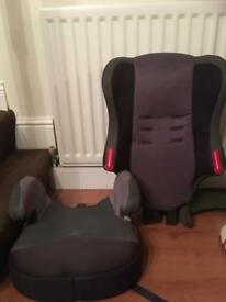 Child car seat with bumper seat addition