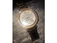 Genuine rose gold Michael kors watch