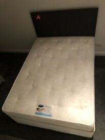 ~Double Divan Bed and Base (Headboard included)~ Morningside
