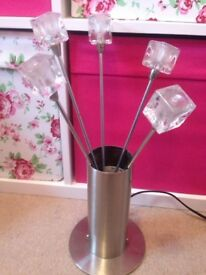 2 ICE CUBE STYLE TABLE LAMPS