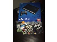 PS3 500gb with controller and 4 games