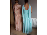 Brand new bridesmaid dress-size12-green mint-convertible top