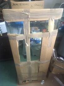 Frameless wall mirror perfect condition