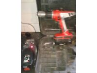 black and decker 18v hammer drill 2x battery