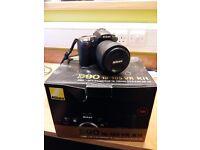 Nikon D90 Camera+18-105mm VR Lens+16GB SD card+Tripod