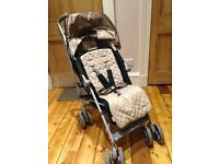Maclaren Techno XLR black/champagne with carry cot/pram and new changing mat