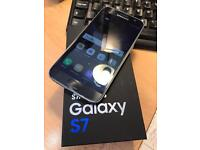 Samsung galaxy S7 black 32gb factory unlocked boxed immaculate condition