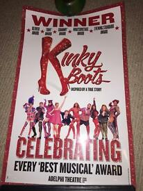 Kinky boots musical folio poster