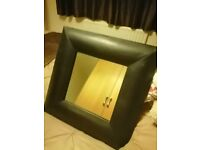 FREE... Black leather look mirror