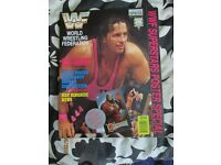 RARE WWE/ WWF WRESTLING SUPER STARS POSTER MAGAZINE BRET HART 1 HAVE OTHER MAGAZINES
