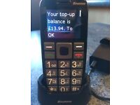 Binatone large button mobile phone with credit