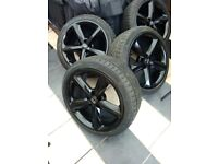 Genuine Audi 18 inch alloys alloy wheels and tyres