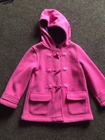 Girls pink hooded coat aged 3-4yrs