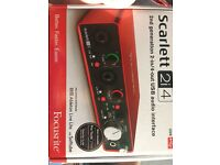 Scarlett 2i4, 2nd generation 2-in/4-out USB audio interface (USB) focusrite