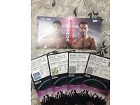 4X Anthony Joshua v Wladimir Klitschko tickets seats club 220 row 1!! 29th April