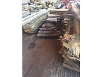 Planked timber slab wood oak elm cherry