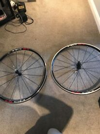 Shimano RS10 bicycle wheels (front & rear)+ quick release leavers