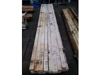 "28 Wood Posts 3m x 70mm x 65mm (approx 10' x 3"" x 2½"").....NO OFFERS"