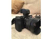 Canon EOS M3 Camera and Viewfinder