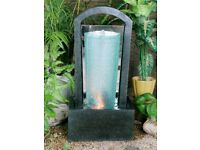 Glass column water feature