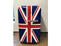 Less than a year awesome retro SMEG Mini Frige with a fun Union Jack pattern in perfect conditions