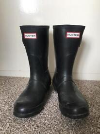 Hunter boots black UK 4