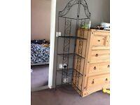 cast iron plant stand/corner shelf