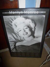 MARILYN MONROE 1991 CALENDAR POSTER IN FRAME