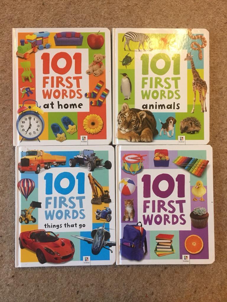 4 hardback first word books.