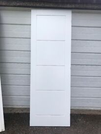 4 pre finished white doors