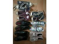 Bunch of shoes. Creepers, Converse, tuk etc