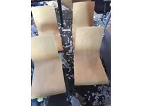 4 wooden stacking chairs