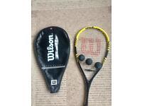 Wilson Squash racket and balls