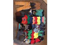 Large bundle of boys clothes 1-2 years