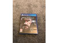 Metal Gear Solid V Ground Zero PS4