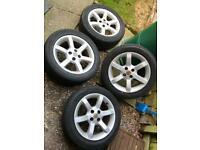 MG TF alloy wheels (also fit MG F)