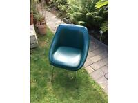 1960's faux leather and chrome bucket seat